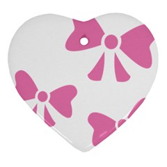 Bow Ties Pink Ornament (heart)