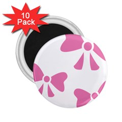 Bow Ties Pink 2.25  Magnets (10 pack)