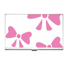 Bow Ties Pink Business Card Holders