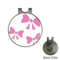 Bow Ties Pink Hat Clips With Golf Markers