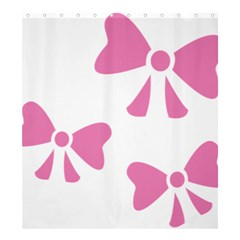 Bow Ties Pink Shower Curtain 66  x 72  (Large)