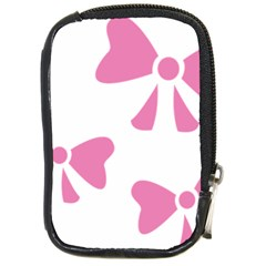 Bow Ties Pink Compact Camera Cases
