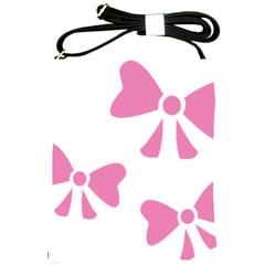 Bow Ties Pink Shoulder Sling Bags