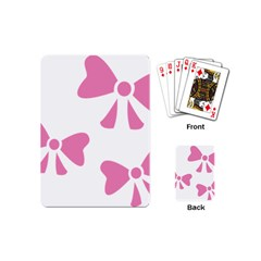 Bow Ties Pink Playing Cards (Mini)