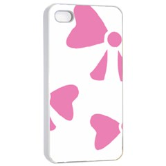 Bow Ties Pink Apple Iphone 4/4s Seamless Case (white)