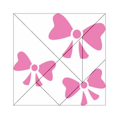 Bow Ties Pink Acrylic Tangram Puzzle (6  x 6 )