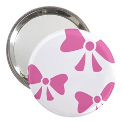 Bow Ties Pink 3  Handbag Mirrors