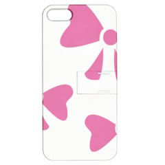 Bow Ties Pink Apple iPhone 5 Hardshell Case with Stand