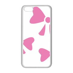 Bow Ties Pink Apple iPhone 5C Seamless Case (White)