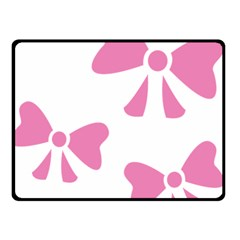 Bow Ties Pink Double Sided Fleece Blanket (Small)