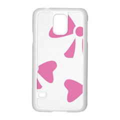 Bow Ties Pink Samsung Galaxy S5 Case (White)