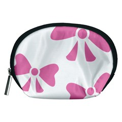 Bow Ties Pink Accessory Pouches (Medium)