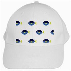 Blue Fish Swim Yellow Sea Beach White Cap