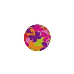 Butterfly Animals Rainbow Color Purple Pink Green Yellow 1  Mini Buttons