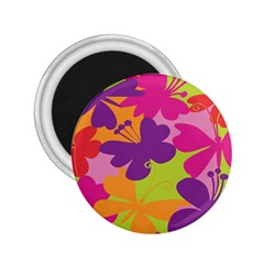 Butterfly Animals Rainbow Color Purple Pink Green Yellow 2.25  Magnets