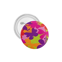 Butterfly Animals Rainbow Color Purple Pink Green Yellow 1.75  Buttons