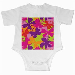 Butterfly Animals Rainbow Color Purple Pink Green Yellow Infant Creepers