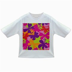 Butterfly Animals Rainbow Color Purple Pink Green Yellow Infant/toddler T Shirts