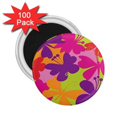 Butterfly Animals Rainbow Color Purple Pink Green Yellow 2.25  Magnets (100 pack)