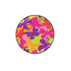 Butterfly Animals Rainbow Color Purple Pink Green Yellow Hat Clip Ball Marker (4 Pack)