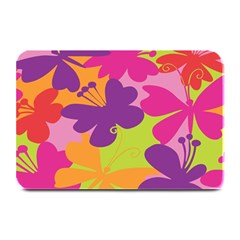 Butterfly Animals Rainbow Color Purple Pink Green Yellow Plate Mats