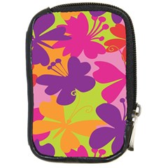 Butterfly Animals Rainbow Color Purple Pink Green Yellow Compact Camera Cases