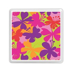 Butterfly Animals Rainbow Color Purple Pink Green Yellow Memory Card Reader (Square)