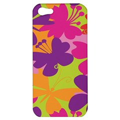 Butterfly Animals Rainbow Color Purple Pink Green Yellow Apple iPhone 5 Hardshell Case