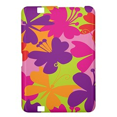 Butterfly Animals Rainbow Color Purple Pink Green Yellow Kindle Fire HD 8.9