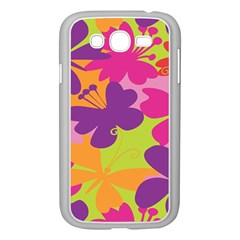 Butterfly Animals Rainbow Color Purple Pink Green Yellow Samsung Galaxy Grand DUOS I9082 Case (White)