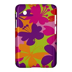 Butterfly Animals Rainbow Color Purple Pink Green Yellow Samsung Galaxy Tab 2 (7 ) P3100 Hardshell Case