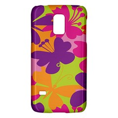 Butterfly Animals Rainbow Color Purple Pink Green Yellow Galaxy S5 Mini