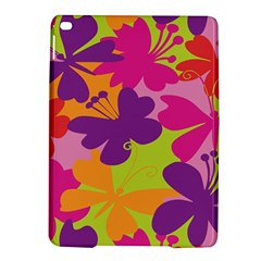 Butterfly Animals Rainbow Color Purple Pink Green Yellow iPad Air 2 Hardshell Cases