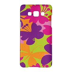 Butterfly Animals Rainbow Color Purple Pink Green Yellow Samsung Galaxy A5 Hardshell Case