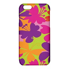 Butterfly Animals Rainbow Color Purple Pink Green Yellow iPhone 6/6S TPU Case