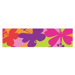 Butterfly Animals Rainbow Color Purple Pink Green Yellow Satin Scarf (Oblong)