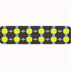 Blue Black Yellow Plaid Star Wave Chevron Large Bar Mats