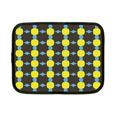 Blue Black Yellow Plaid Star Wave Chevron Netbook Case (Small)