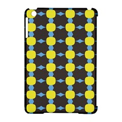 Blue Black Yellow Plaid Star Wave Chevron Apple iPad Mini Hardshell Case (Compatible with Smart Cover)