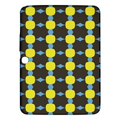 Blue Black Yellow Plaid Star Wave Chevron Samsung Galaxy Tab 3 (10.1 ) P5200 Hardshell Case