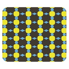 Blue Black Yellow Plaid Star Wave Chevron Double Sided Flano Blanket (small)