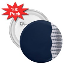 Argyle Triangle Plaid Blue Grey 2 25  Buttons (100 Pack)