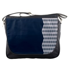 Argyle Triangle Plaid Blue Grey Messenger Bags