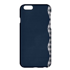 Argyle Triangle Plaid Blue Grey Apple Iphone 6 Plus/6s Plus Hardshell Case