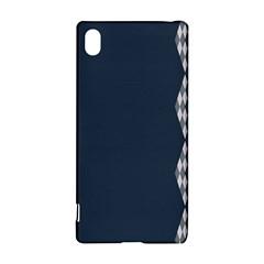 Argyle Triangle Plaid Blue Grey Sony Xperia Z3+