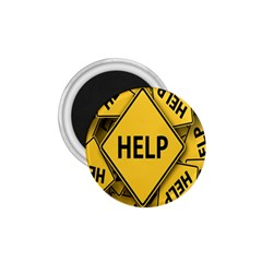 Caution Road Sign Help Cross Yellow 1 75  Magnets
