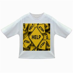 Caution Road Sign Help Cross Yellow Infant/Toddler T-Shirts