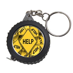 Caution Road Sign Help Cross Yellow Measuring Tapes