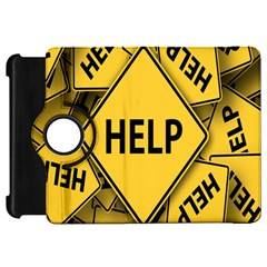 Caution Road Sign Help Cross Yellow Kindle Fire HD 7