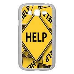 Caution Road Sign Help Cross Yellow Samsung Galaxy Grand Duos I9082 Case (white)